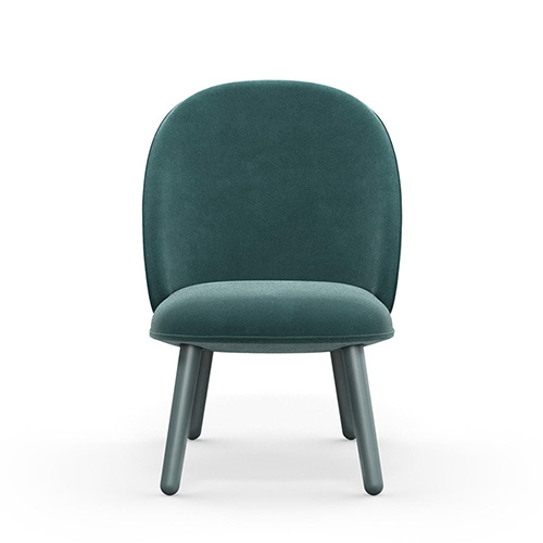 Ace Lounge Chair , Velour Lake Blue