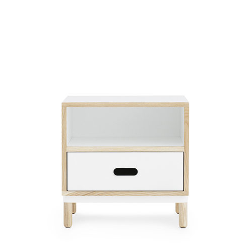 Kabino Bedside Table (601053)  White