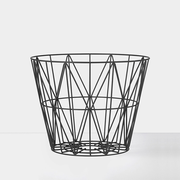 Wire Basket , Black L