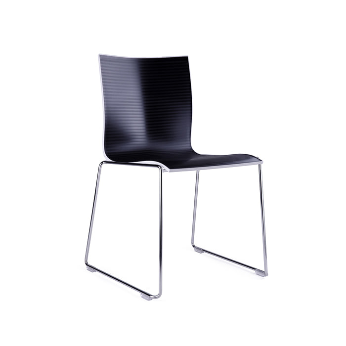 Chairik Chair XL 127 , black_ black sled base주문 후 3개월 소요