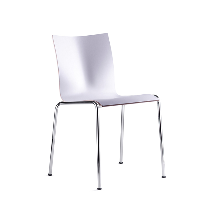 Chairik Chair 101 , Chrome / White