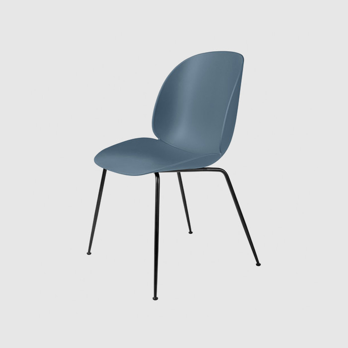Beetle Dining Chair  Black Frame  For Unupholstered