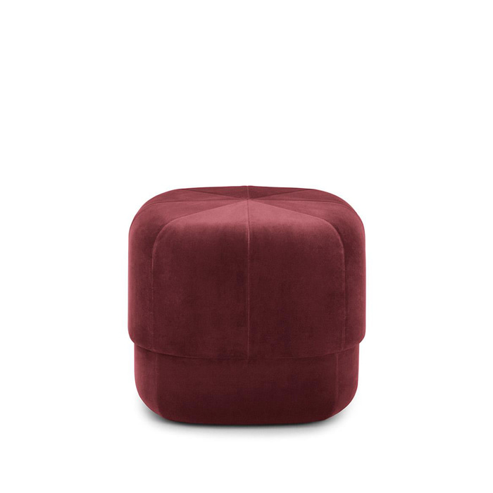 Circus Pouf S (601072) Dark Red Velour